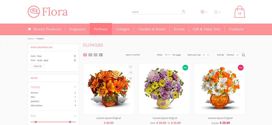 Flora - Responsive Magento 2 Theme