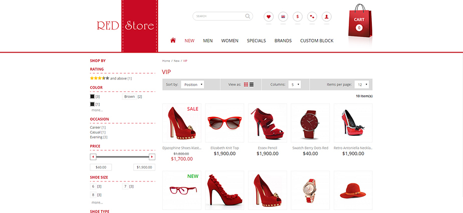 Red Store - Responsive Magento Theme