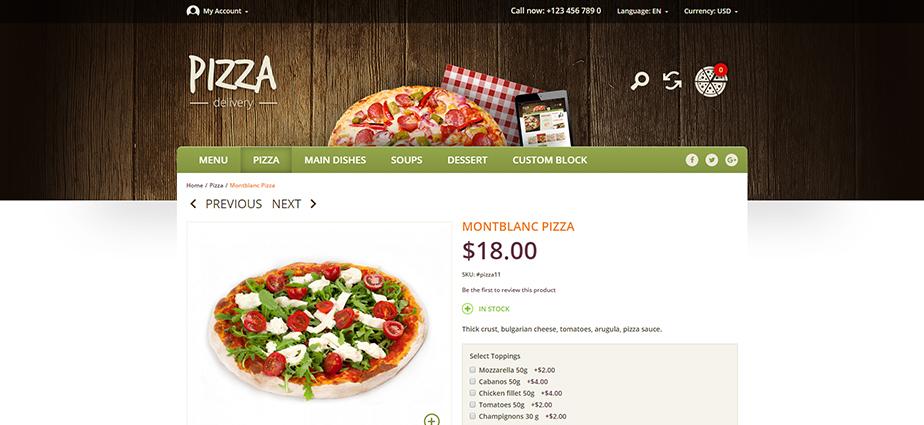Pizza - Responsive Magento Theme