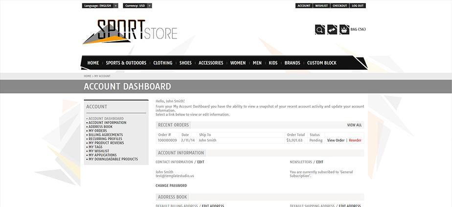 Sport 1 - Responsive Magento Theme