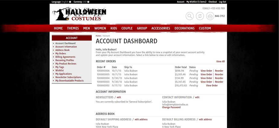 Halloween 3  - Responsive Magento Theme