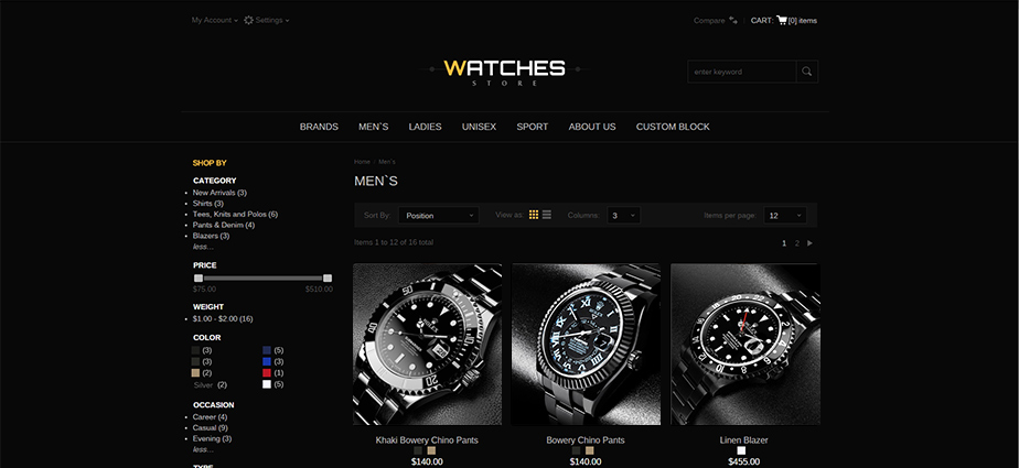 Watch2 - Responsive Magento Theme