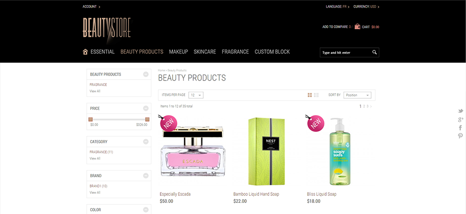 Beauty 1  - Responsive Magento Theme