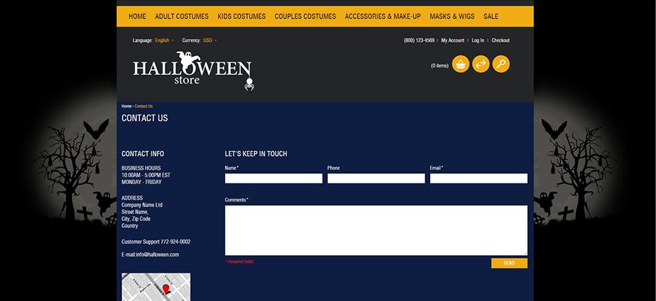 Halloween 2  - Responsive Magento Theme