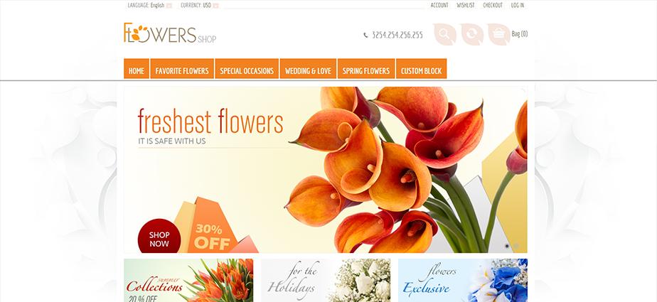 Flowers 1  - Responsive Magento Theme