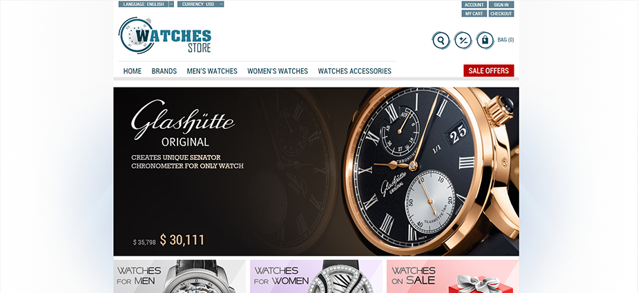 Watch 1  - Responsive Magento Theme